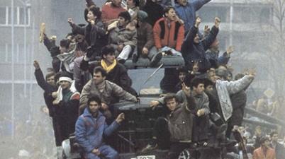 imagine revolutia din romania 1989