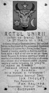actul unirii 27 martie 1918