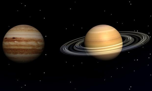 "Foto: NASA ""Marea conjuncție"" Jupiter Saturn"""